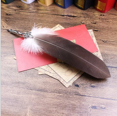 Joyisland-Antique-Feather-Copper-Pen-Stem-Antique-True-Feather-Metal-Nibbed-Calligraphy-Pen-for-Harry-Potter-Fans