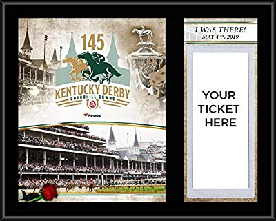 "Kentucky Derby 145 12"" x 15"" Sublimated""I Was There"" Ticket Plaque - Horse Racing Plaques, and Collages"