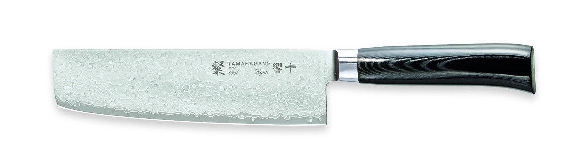 Tamahagane San Kyoto SNK-1165-7 inch, 180mm Nakiri Vegetable Knife by Tamahagane