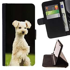 Stuss Case / Funda Carcasa PU de Cuero - Lakeland Terrier Sealyham perro de perrito - HTC One A9