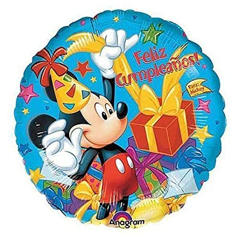 Amazon.com: Anagram 08304 Mickey Feliz Cumpleanos Foil ...