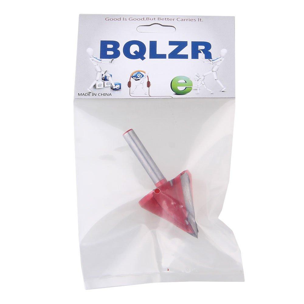 BQLZR 60 degr/¨/¦s /¨/¤ double tranchant 6mmx32mm 3D Groove Router Bit Gravure CNC
