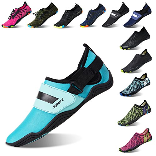 75e0b71d6a45 Lauwodun Womens and Mens Quick Dry Water Shoes Barefoot Aqua Sock Shoes for  Beach Surfing Yoga