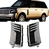 2005 range rover hse grill - Side Vents Fits 2003-2012 Land Rover Range Rover | L322 Side Vent Chrome Silver Black Euro Style ABS Plastic by IKON MOTORSPORTS | 2004 2005 2006 2007 2008 2009 2010 2011