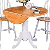 country kitchen table and chairs Coaster Home Furnishings 4241 Country Dining Table, Natural and White