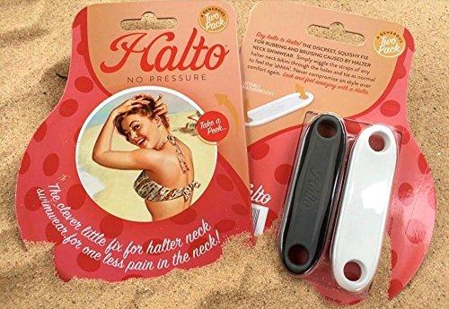 Halto - die Neuheit bei Schmerzen, die vom Neckholder Bikini verursacht werden, Set bestehend aus 2 Stück, Strand Accessoire