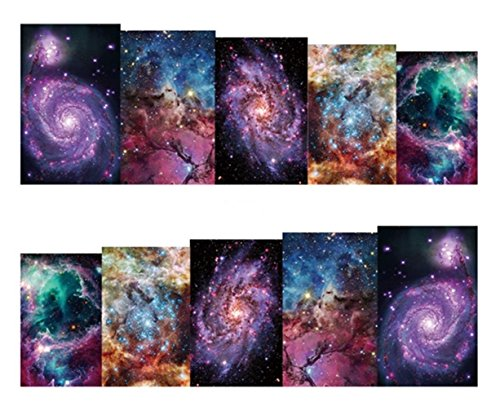 1 Sheet Galaxy Nebula Nail Art Sticker Water Transfer Nails Wrap Paint Tattoos Stamp Plates Templates Tools Tips Kits Gorgeous Popular Xmas Christmas Winter Snow Holiday Stick Tool Vinyls Decals -