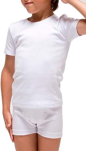 RAPIFE Pack 3 - Camiseta Interior Manga Corta niño: Amazon.es ...
