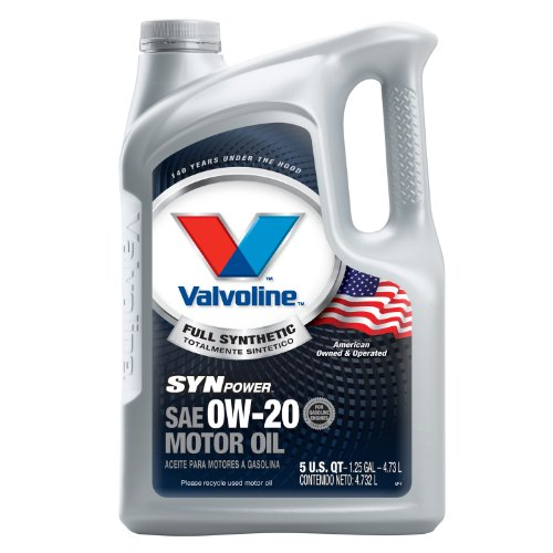 Valvoline SynPower 0W-20 Full Synthetic Motor Oil - 5qt (Case of 3) (813460-3PK)