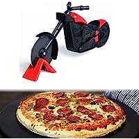 takestop® Rotella Liscia Taglia Pizza A Forma di Moto Motociclo TAGLIAPIZZA Professionale Ristorante con Lama in Acciaio Colore Casuale