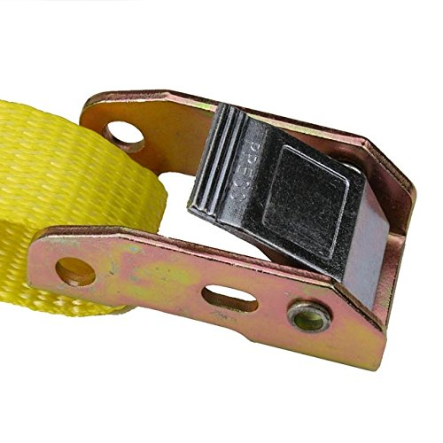 1'' X 20' Cam Buckle Tie Down Strap with Vinyl Coated S-Hooks