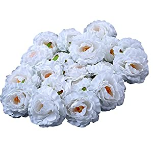 Sundlight Silk Cloth Peony Flower Head Artificial Flower Heads for Wedding Party Home Decoration 1