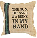 Primitives by Kathy Double-Sided Drink in My Hand Canvas Throw Pillow