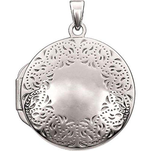 Bonyak Jewelry Round Locket in 14k White Gold