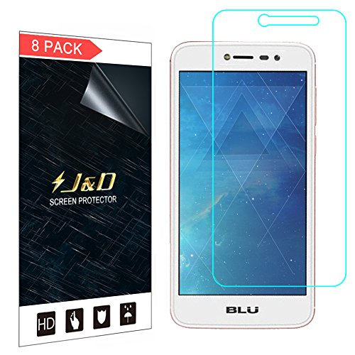 J&D Compatible for 8-Pack BLU Studio Pro Screen Protector, [Not Full Coverage] Premium HD Clear Film Shield Screen Protector for BLU Studio Pro Crystal Clear Screen Protector
