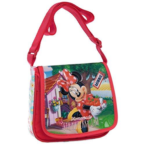 Disney Minnie Strawberry Borsa Messenger, Poliestere, Rosa, 17 cm