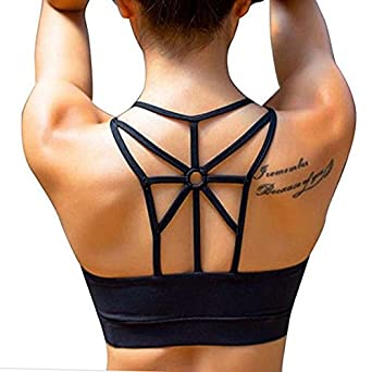 Women s Front Zip Sexy Sports Bra for Running Fitness Yoga at Amazon ...