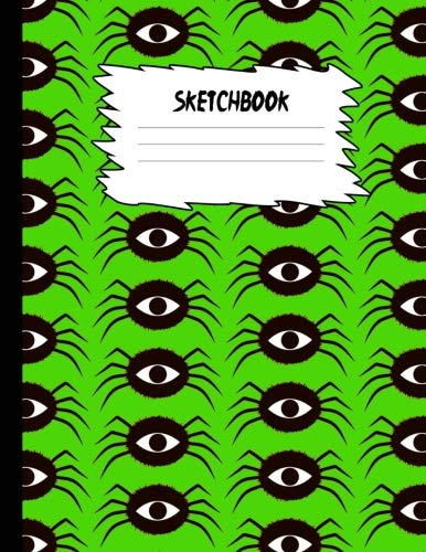 Sketchbook: Halloween Sketch Book for Kids: Yellow & Black Pumpkin Large Drawing Paper with 80 Pages (8.5
