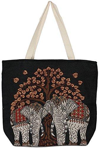 E218 Handle Tote Handbag Elephant Shoulder Top Size Big Bag Hippie Cute Bohemian 0aTxwTqPX