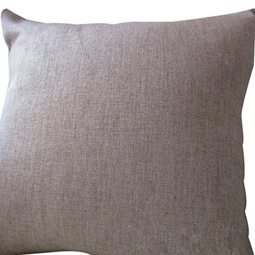 Home Decor Pillow, GillberryVintage Cotton Linen Pillow Case Sofa Waist Throw Cushion Cover Home Decor (Beige)