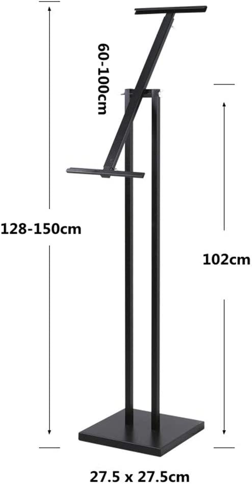 スタンドボード 案内板 調整可能なディスプレイラックポスターボードディスプレイ広告フレームブラケットビルボードディスプレイスタンド垂直フロアタイプベベルポスタースタンドフロア立ち 掲示板 (Color : Black, Size : 27.5 x 150cm)