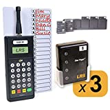 Restaurant Server Pager System with 3 Pagers