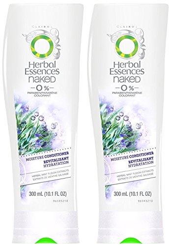 Herbal Essences Naked Haircare - 0% Paraben - Moisture Conditioner - Net Wt. 10.1 FL OZ (300 mL) Per Bottle - Pack of 2 Bottles (Wild Berry Mousse)
