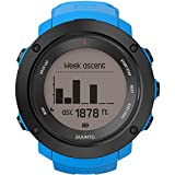Suunto Men's 50mm Blue Silicone Band Steel Case Quartz Grey Dial Digital Watch SS021968000