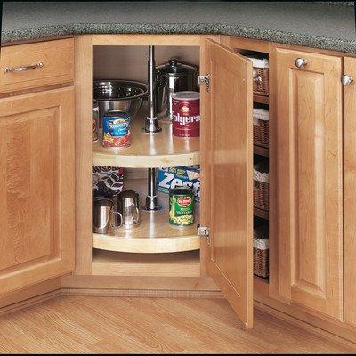 Rev-A-Shelf - 4WLS072-32-52 - 32 in. Wood 2-Shelf Full Circle Lazy Susan Set