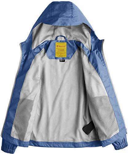 a7f1361f2b10 Wantdo Girl s Lightweight Hooded Rain Jacket Waterproof Outwear ...