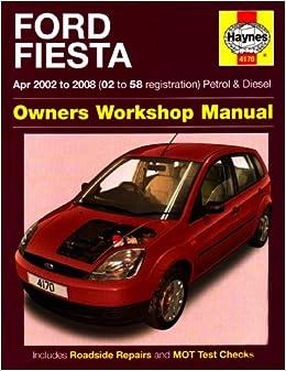 ford fiesta owners workshop manual 2002 to 2008 haynes. Black Bedroom Furniture Sets. Home Design Ideas