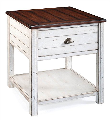 Magnussen Bellhaven Wood Rectangular End Table (End Magnussen Table Cherry)