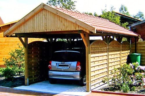 Techo para cubierta para coches Nürburg I 350 x 600cm, juego de ...