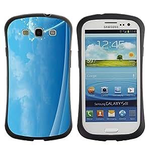 """Pulsar iFace Series Tpu silicona Carcasa Funda Case para SAMSUNG Galaxy S3 III / i9300 / i747 , Calma cielo Calmante Nubes chispa brillante"""""""