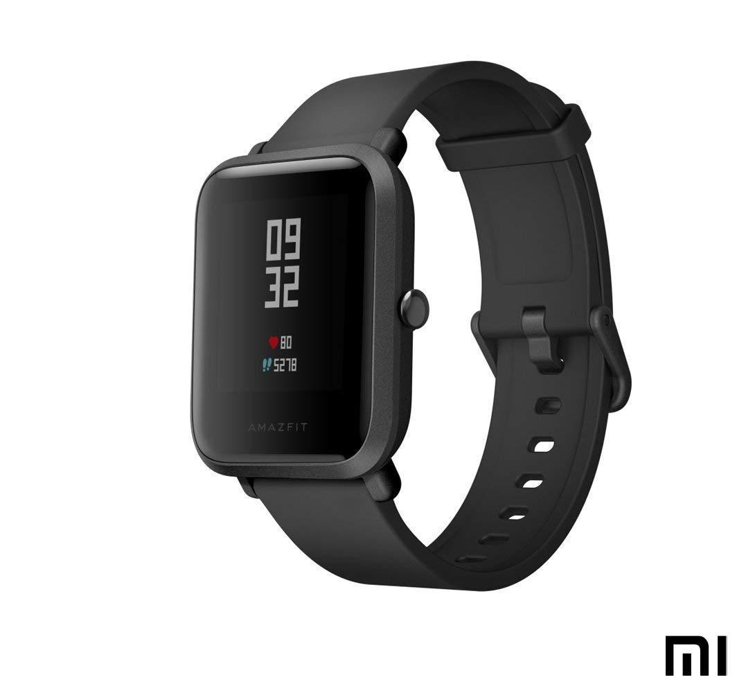 AMAZFIT Bip Xiaomi Montre Connectée Smartwatch | Moniteur de fréquence Cardiaque | Exercice Fitness Montre de Sport (Version Internationale) Noir: ...