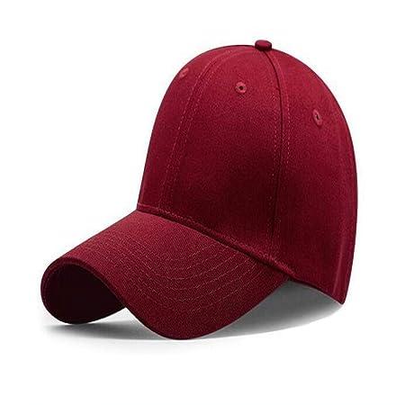 mlpnko Sombrero, Gorra de béisbol, Gorra, Rojo Vino, Ajustable ...