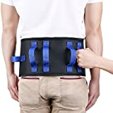 OasisSpace Transfer Belt with Handles - Medical Gait Belt Nursing Safety Assist Device with Metal Buckle - 2 in 1 Standing Support Aid Kit for Patient, Elderly, Physical Therapy