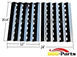 Hongso PPZ242 (2-pack) Brinkmann Gas Grill Heat Plate Replacement for Lowes Model Grills (16 3/8