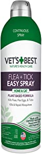 Vet's Best Flea and Tick Easy Spray Flea Treatment for Cats and Home Flea Killer with Certified Natural Oils