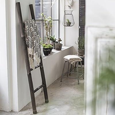 Tikamoon 2138 Escalera Puerta Toalla de baño (bambú Negro 40 x 5 x 150 cm: Amazon.es: Hogar