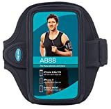 Armband for iPhone 8 7 6s 6 with OtterBox Commuter; and for Galaxy S8 with thin case [and for Galaxy S6 S7 with Otter Box case] [Water-Resistant] [Black]