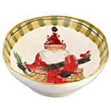 Vietri Old St. Nick Oval Serving Bowl 17.25 L 11.5 W 3