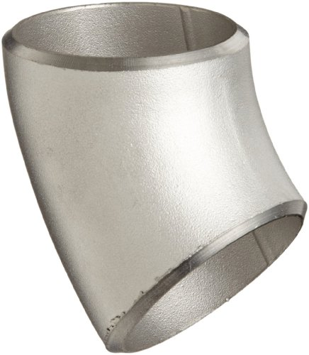 Stainless Steel 304/304L Butt-Weld Pipe Fitting, Long Radius 45 Degree Elbow, Schedule 40, 1-1/2