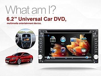 Última UI Doble Din 6,2 pulgadas coche GPS Navigation En Dash coche reproductor de