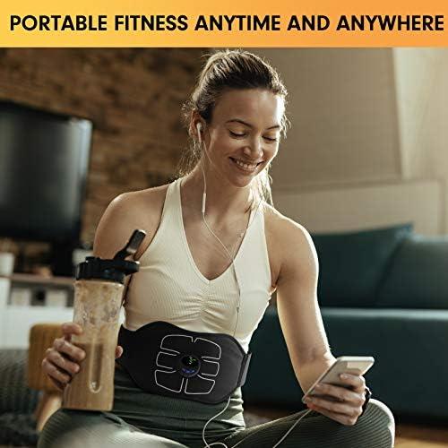 MarCoolTrip MZ ABS Stimulator,Ab Machine,Abdominal Toning Belt Workout Portable Ab Stimulator Home Office Fitness Workout Equipment for Abdomen/Arm/Leg 2