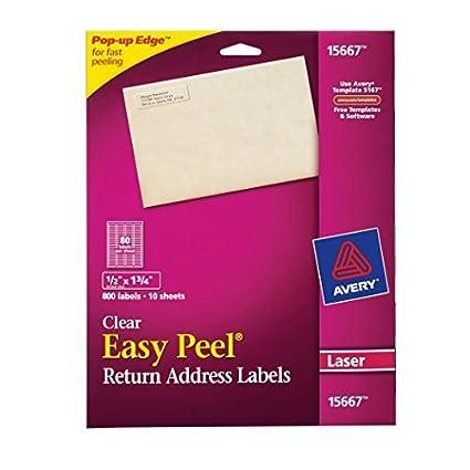Avery fáciles de despegar etiquetas de dirección para impresoras ...