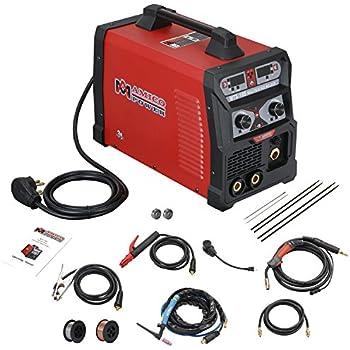 MTS-185 185 Amp MIG/TIG-Torch/Stick Arc Combo Welder, Weld Aluminum(MIG) 110/230V Dual Voltage Welding
