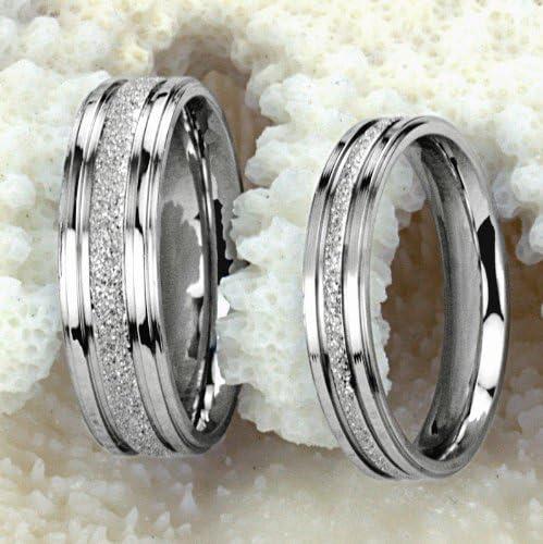 jewelrywe - Anillo de compromiso para hombre (acero inoxidable ...