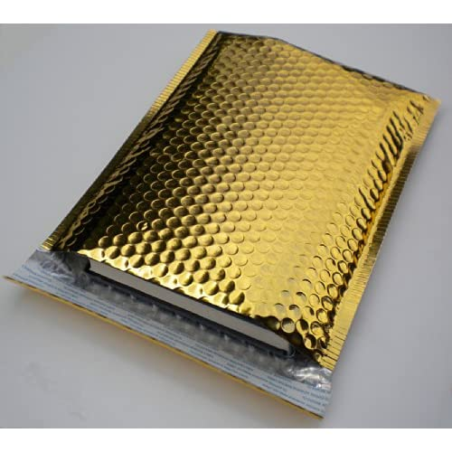 "#0 Metallic Gold Bubble Mailer, 6.5"" x 9.25"" - Case of 100"