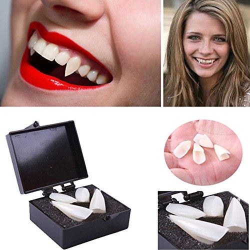 NPLE--4pcs Fancy Vampire Teeth Halloween Denture Fangs Bites Costume Dress Party Props